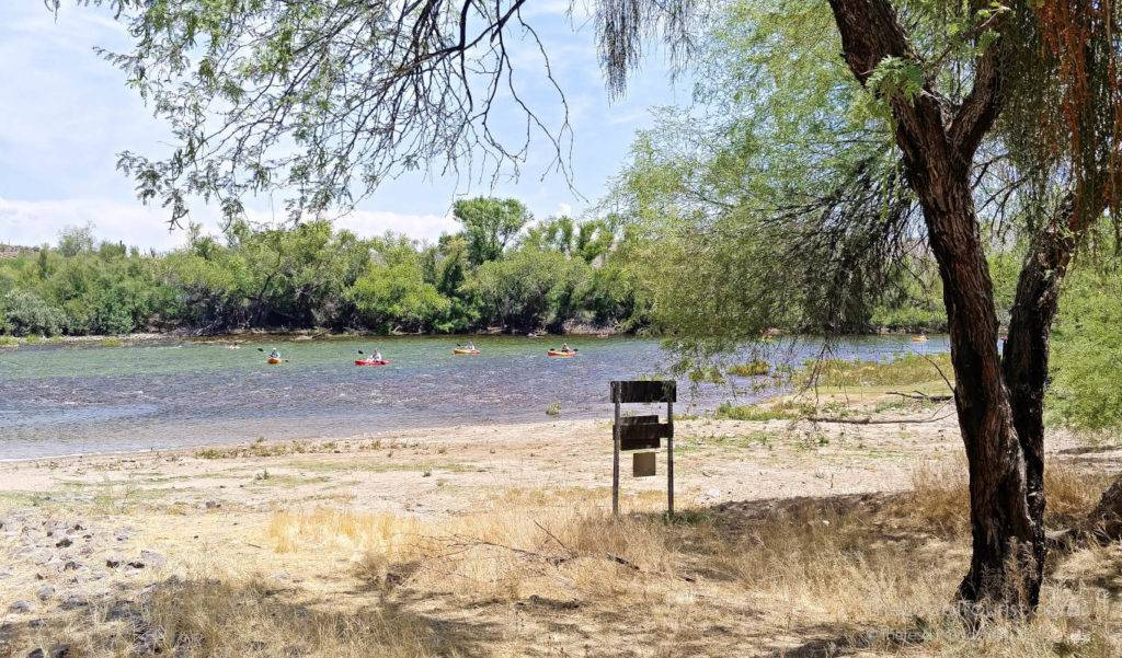 Kayakers on the Lower Salt River