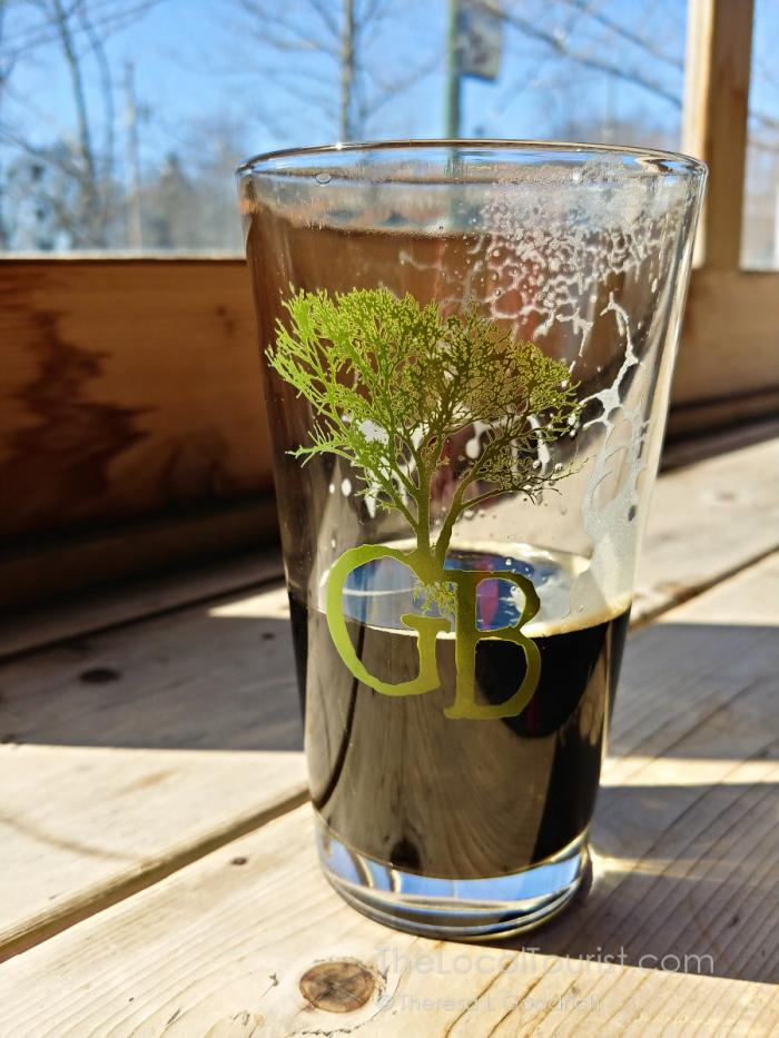 Glass needed a refill at Greenbush Brewery