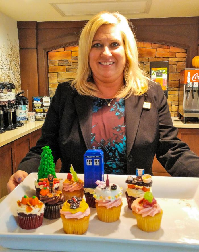 Cupcakes made by Staybridge Suite's Manager Jennifer Smith