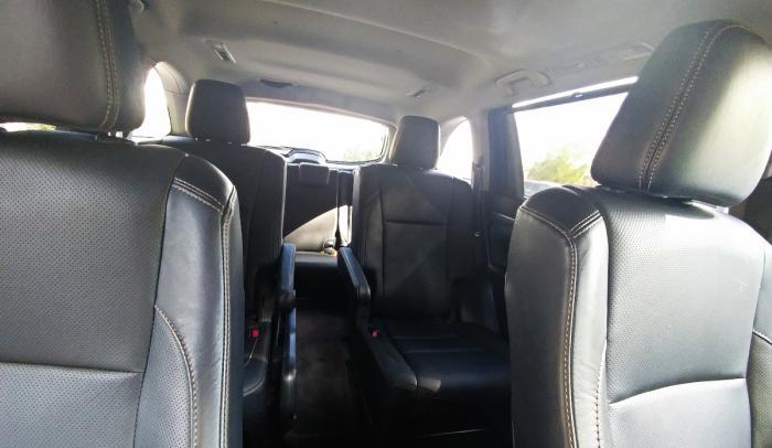 Interior of the 2017 Toyota Highlander
