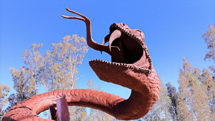 Ricardo Breceda Serpent Sculpture