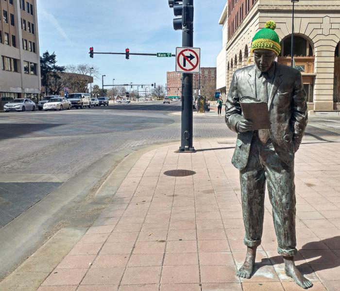 Public art in downtown Wichita