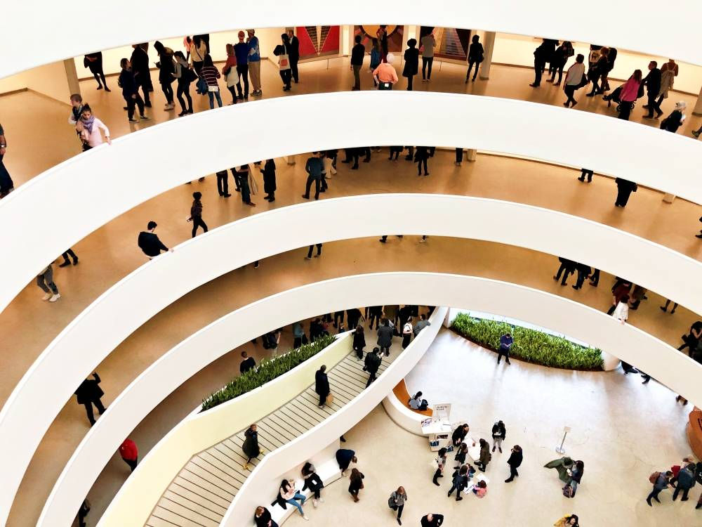 Solomon R. Guggenheim Museum interior, photo by James Ian of Travel Collecting