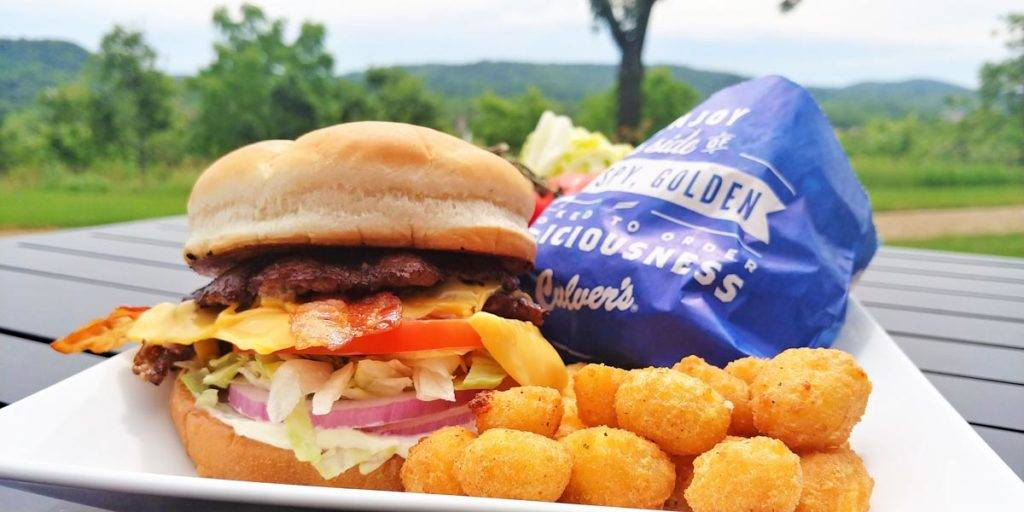 Culver's Bacon Deluxe with cheese curds