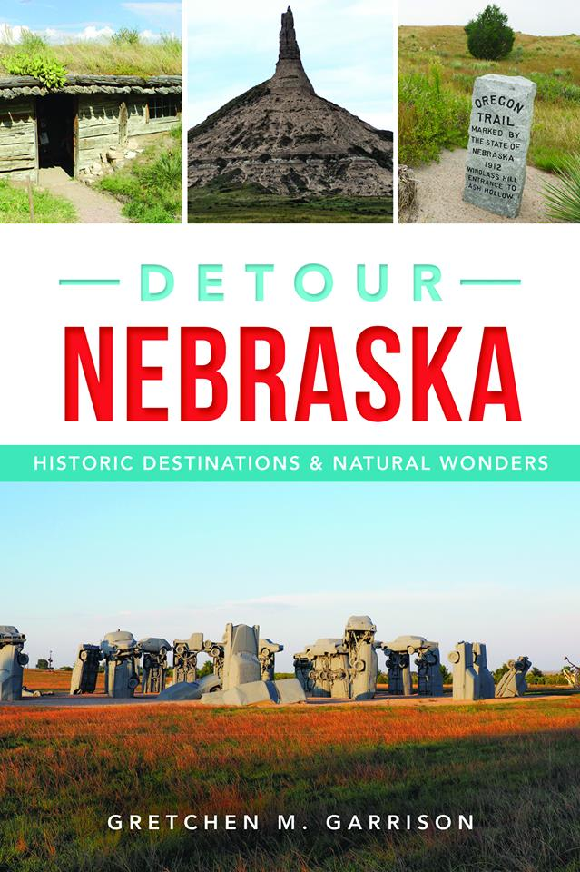 Book cover for Detour Nebraska, by Gretchen M. Garrison