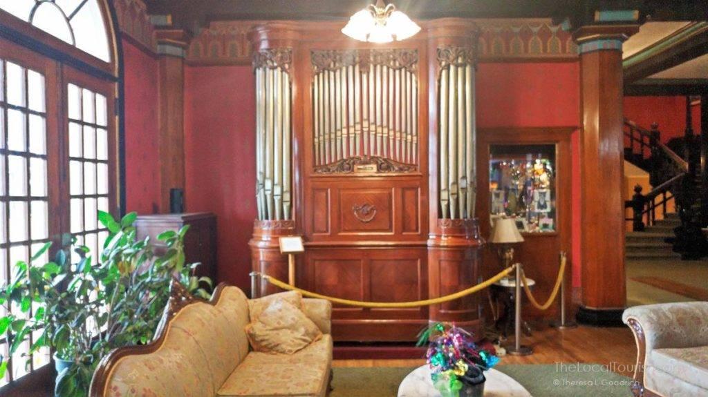 Pipe organ at 1886 Crescent Hotel in Eureka Springs, AK