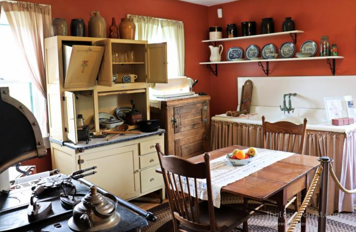 Period kitchen inside the Southport Lighthouse Station Museum