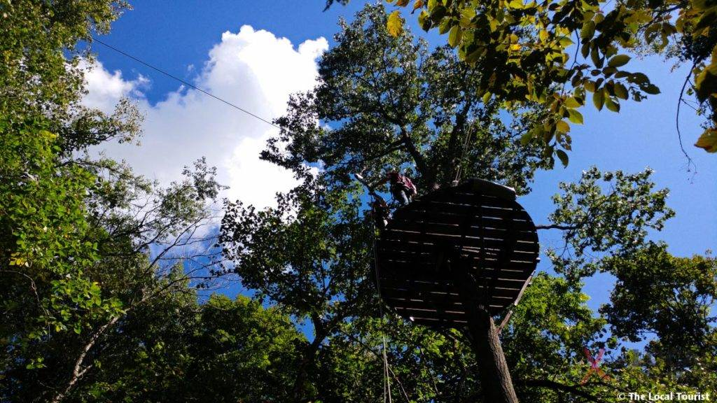 Long Hollow Canopy Tours - After rappelling from the platform