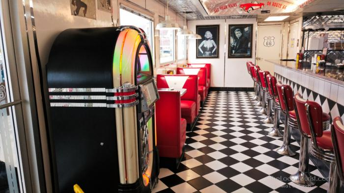 Inside the Route 66 Diner in Pulaski County, MO