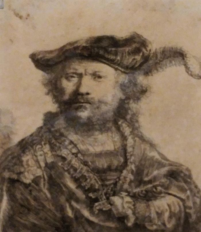 Rembrandt Self-Portrait in Plumed Hat