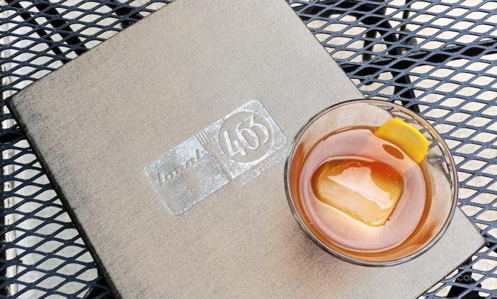 Cherry-infused Knob Creek Old Fashioned