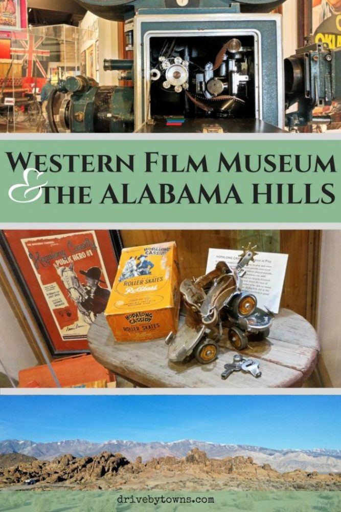 Visit the Western Film Museum and the Alabama Hills, site of several movies, in Lone Pine, California. They're right off of 395, making them an easy road trip destination.
