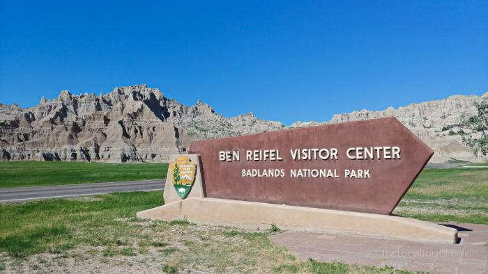 Ben Reifel Visitor Center at the Interior entrance to Badlands National Park