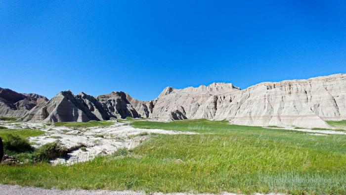 Some of the dramatic scenery we had to drive by in Badlands National Park