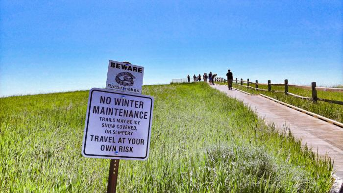 Beware of Rattlesnakes at Badlands National Park