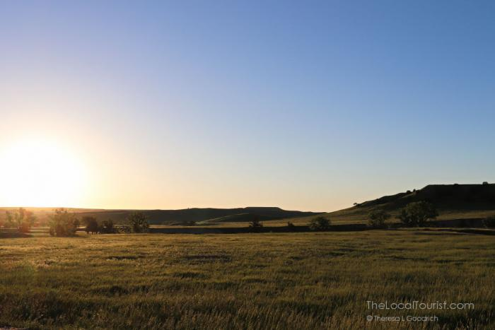 Sunrise over Sage Creek Campground at Badlands National Park