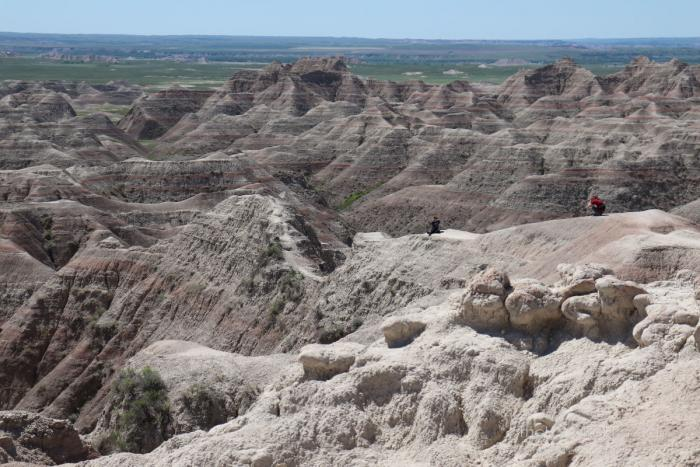 Sightseers at Badlands National Park