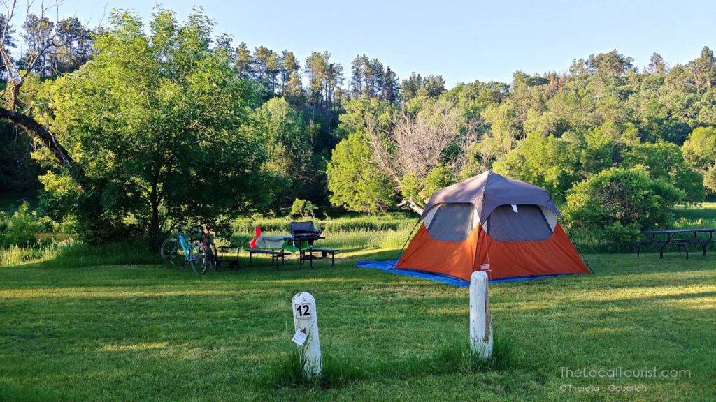 Campsite 12 at Smith Falls State Park near Valentine Nebraska