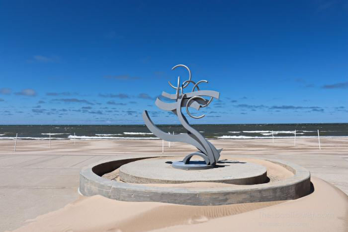 Sculpture at Silver Beach in Saint Joseph, Michigan