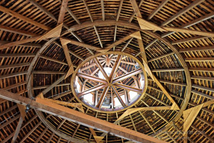 Roof at Round Barn Winery in Baroda, Michigan