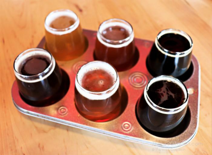 Beer Flight at Round Barn Brewery & Public House