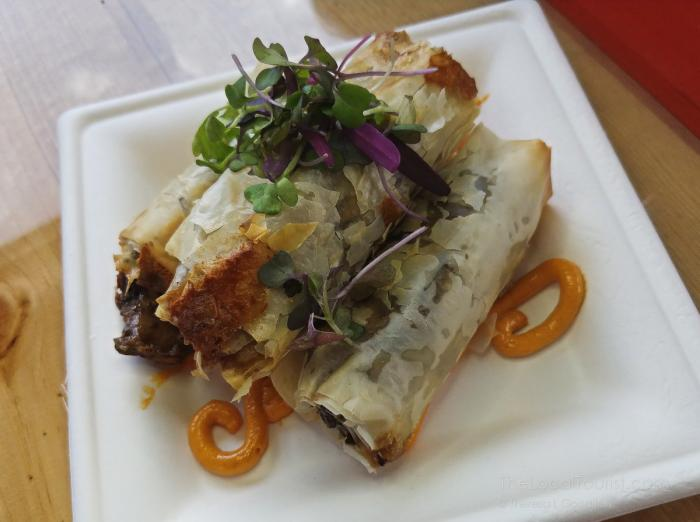 Spring rolls at Free Run Cellars