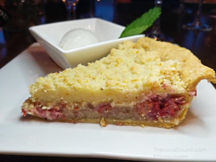 Balaton cherry crumble