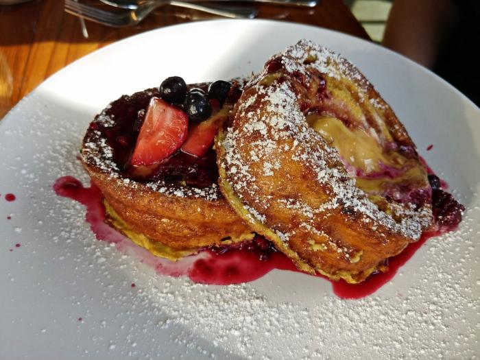 Stuffed French Toast at Mason Jar Cafe