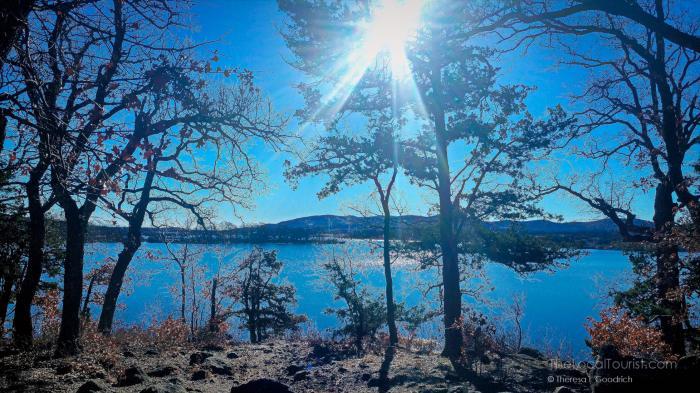 Campsite #44 overlooking Quanah Parker Lake
