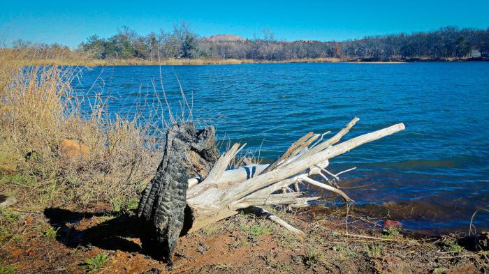 One of thirteen lakes at Wichita Mountains Wildlife Refuge