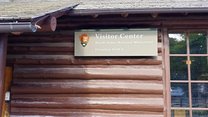 Devils Tower Visitor Center, built in 1935 by the Civilian Conservation Corps