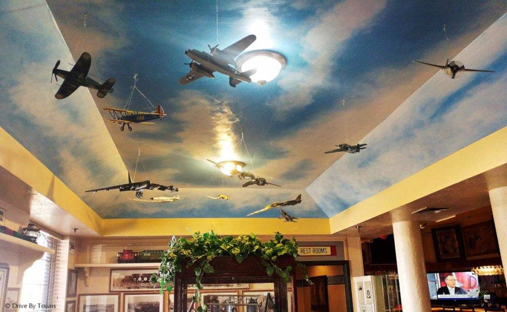 Planes inside Yuma Landing Bar & Grill