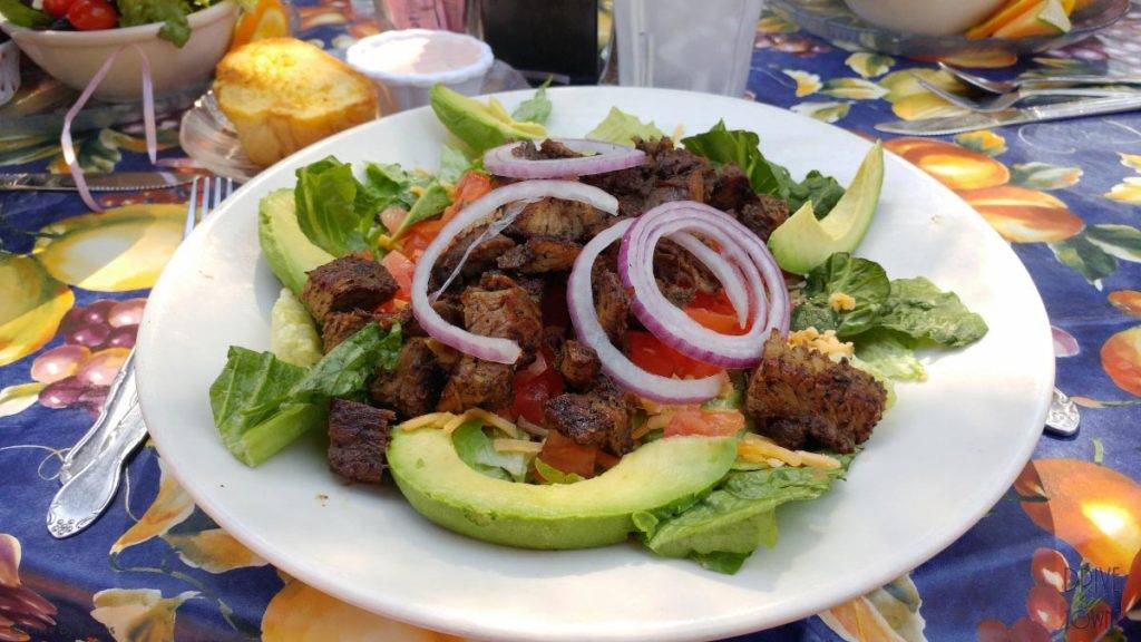 Tri-tip salad at The Garden Cafe