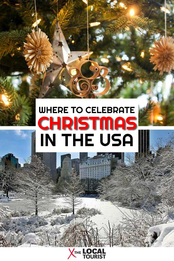 If you're looking for a festive place to celebrate the holidays, check out the best Christmas towns in the US. From coast-to-coast, travel writers share their favorite place to spend Christmas. #Christmas #US #Christmastowns #holidays #hohoho