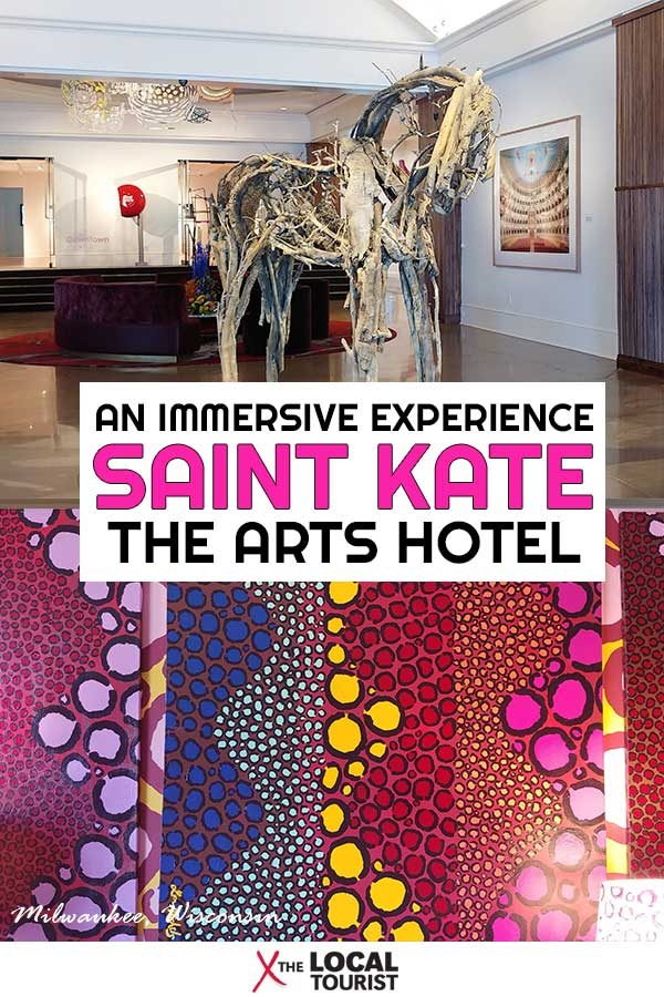 A stay at Saint Kate - The Arts Hotel is more than just a place to rest your head. It's an immersive arts experience in downtown Milwaukee, Wisconsin. #Midwest #USA