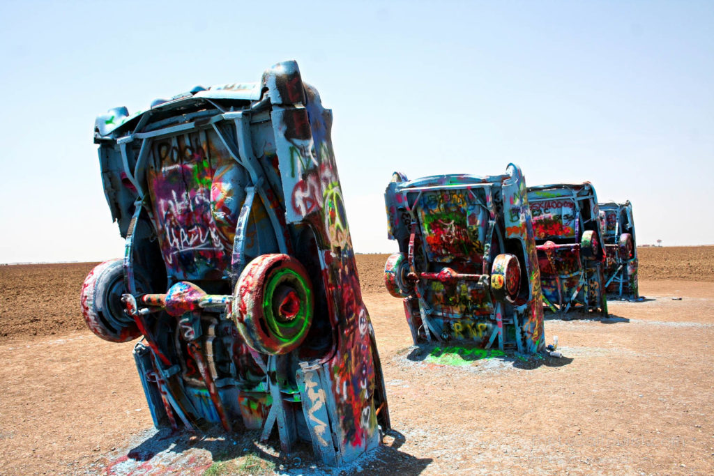 Cadillacs buried outside Amarillo, a Route 66 roadside attraction