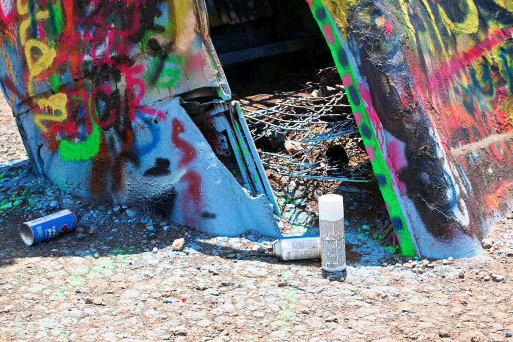 Spray paint can at Cadillac Ranch