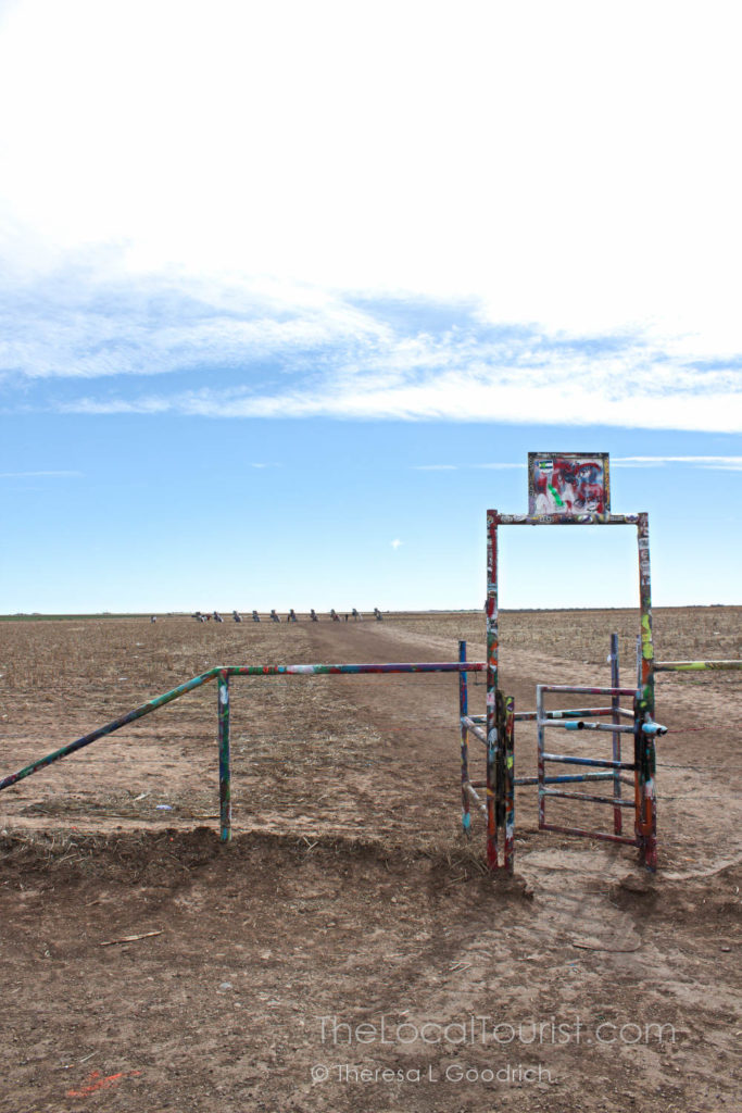 Entrance stile to Cadillac Ranch