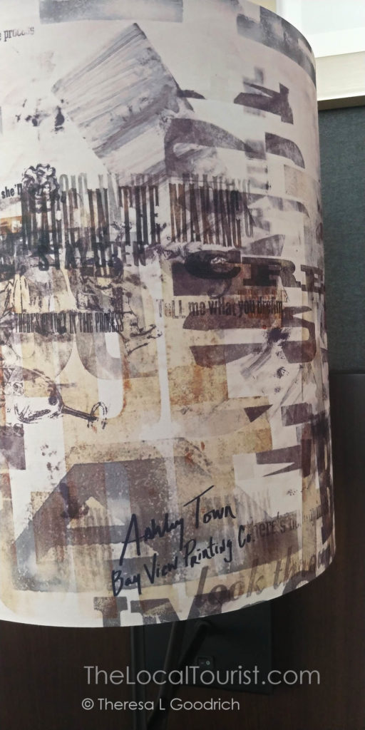 Lampshade signed by the artist