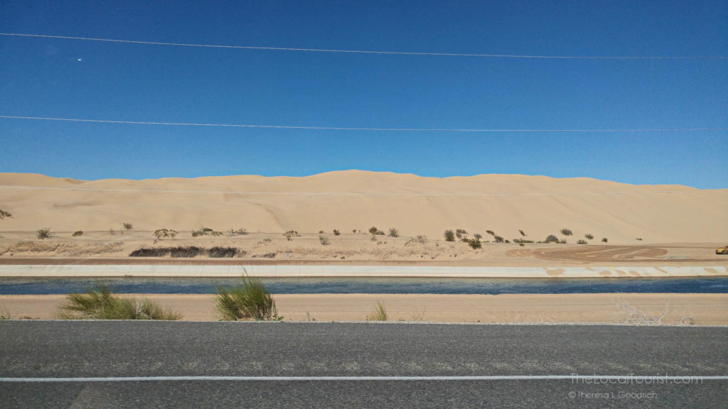 Algodones Dunes along I-8 in Imperial County, California
