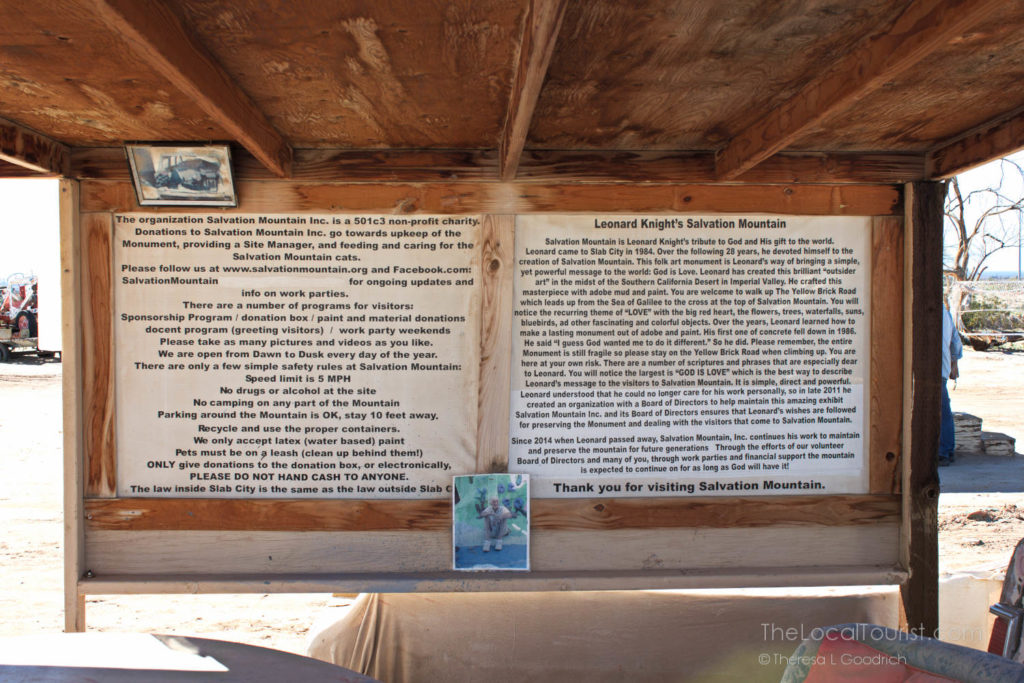 Information about Salvation Mountain