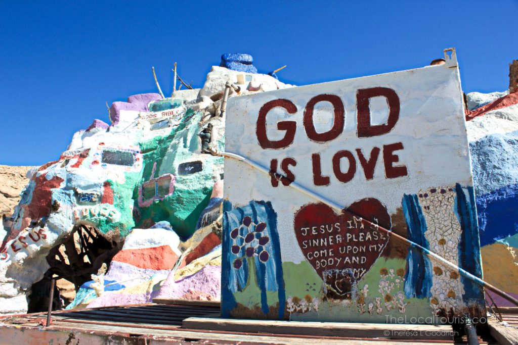 God is Love sign at Salvation Mountain