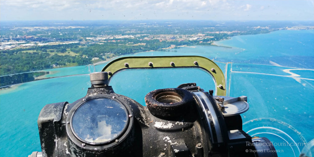 View from the chin turret of Aluminum Overcast