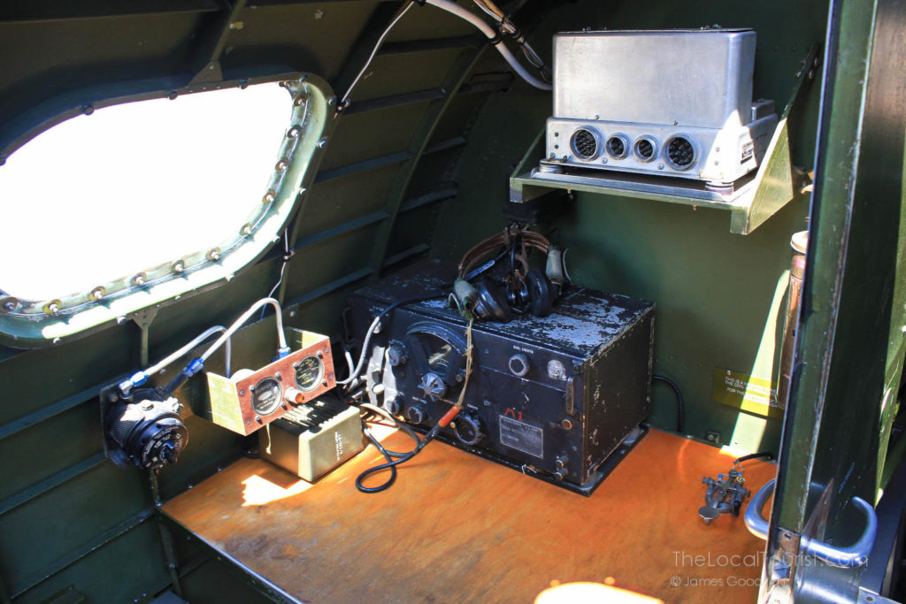 Radio room in a B-17