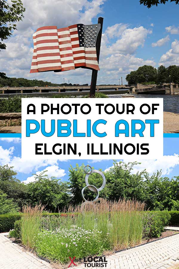 Spend a day exploring the City in the Suburbs and take a self-guide tour of Elgin Public Art. From murals to scultures, there's plenty to see. Public art in Elgin, Illinois. Street art. City of the arts. City in the suburbs.