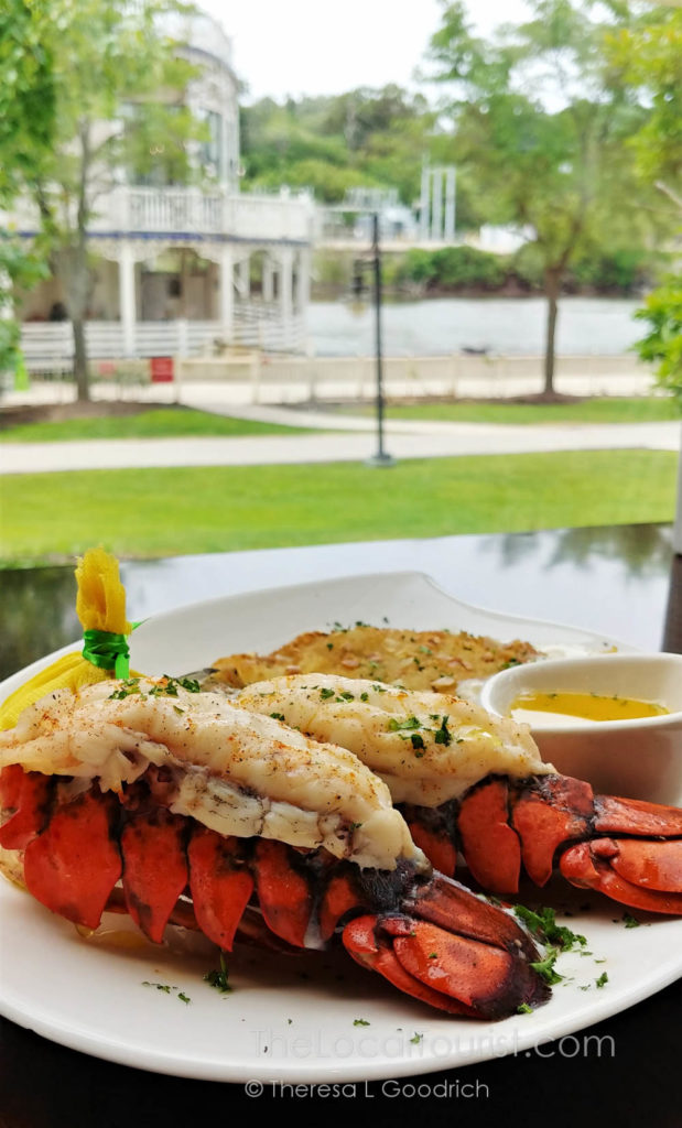 Lobster with a view of the Fox River in Elgin Illinois