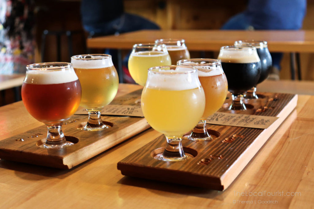 Flight at Plank Road Tap Room