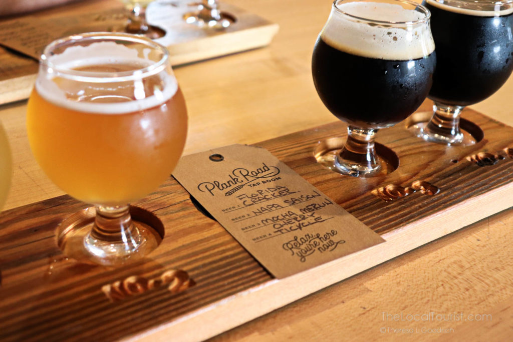 Plank Road Tap Room flight