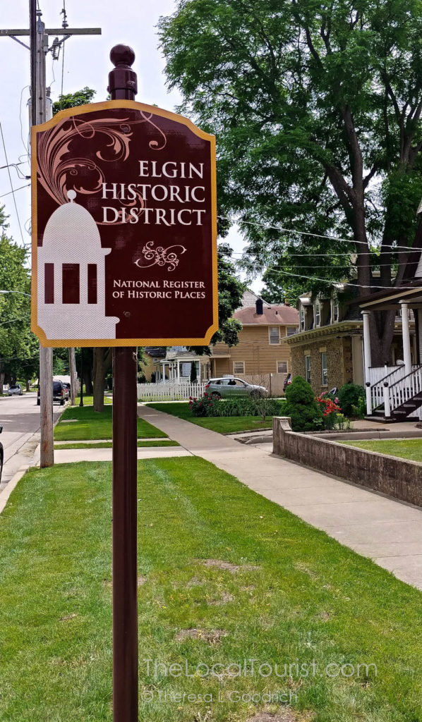 Elgin Historic District. Listed on the National Register of Historic Places