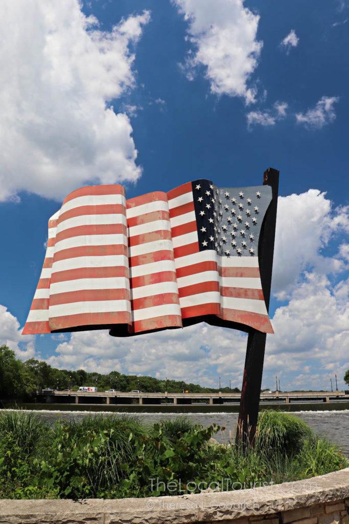 United States Flag Sculpture by Outside Exhibition Group